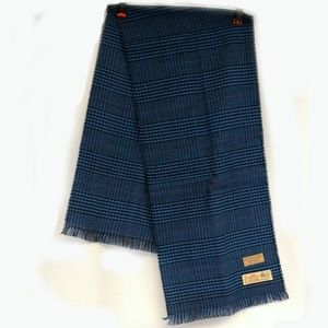 Givenchy Lambswool Blue Plaid Scarf